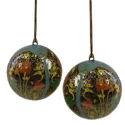 Set of Two Blue Hope Ornaments (India) - Thumbnail 2