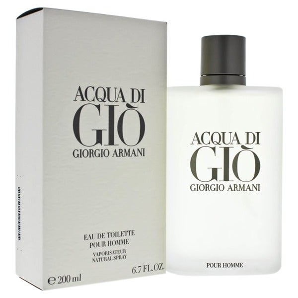 95883ad051 Shop Giorgio Armani Acqua Di Gio Pour Homme Men s 6.7-ounce Eau de Toilette  Spray - Free Shipping Today - Overstock - 4295364