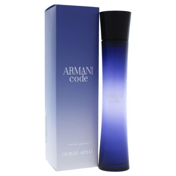 521393c0f6 Shop Giorgio Armani Code Women's 2.5-ounce Eau de Parfum Spray - Free  Shipping Today - Overstock - 4295576