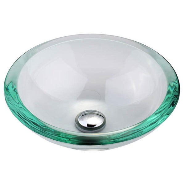 Clear Glass Sink : KRAUS 34 mm Thick Glass Vessel Sink in Clear - Free Shipping Today ...