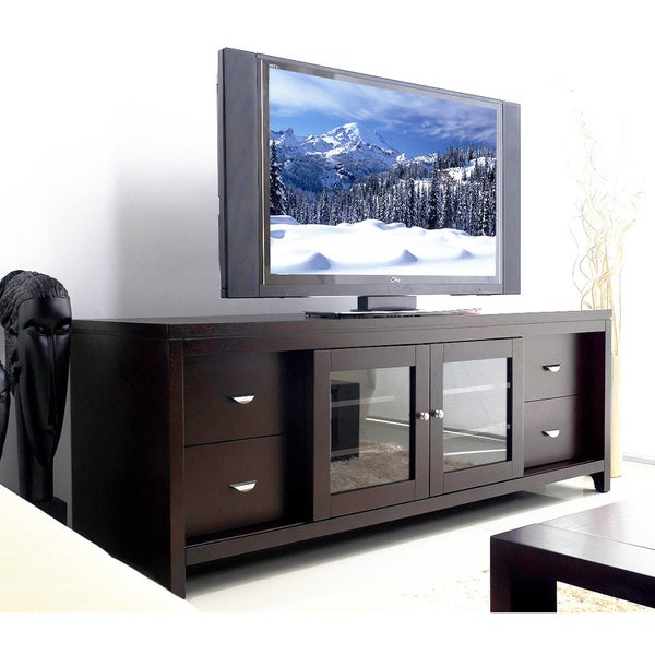 Abbyson Clarkston Solid Wood 72-inch TV Console