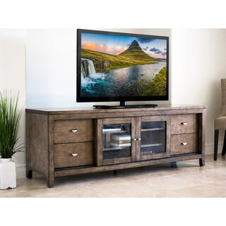 Abbyson Clarkston Solid Wood 72-inch TV Console (Option: Taupe - Weathered)