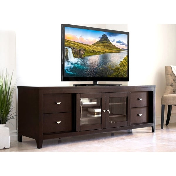 Abbyson Clarkston Solid Wood 72-inch TV Console