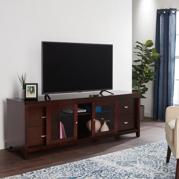 72 In X 1 516 In Heavy Duty Brushed Nickel Closet Pole: Abbyson Clarkston Solid Wood 72-inch TV Console