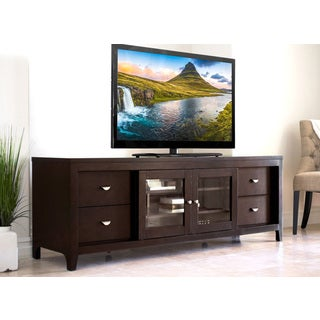 Abbyson Clarkston Solid Wood 72 Inch TV Console