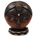 Handcrafted 'Face Of Innocence' Wood Mask (Ghana)