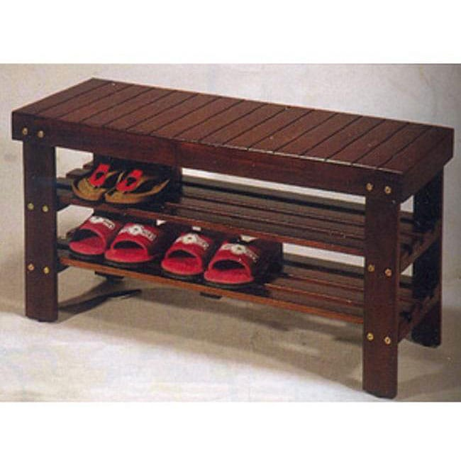 Wooden Shoe Bench - Free Shipping Today - Overstock.com - 12276458
