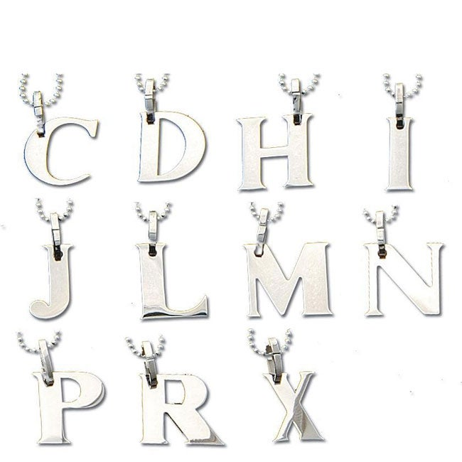 Stainless Steel Letter Necklace