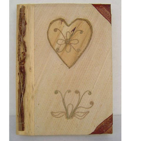 Rayon from Bamboo Paper Natural Heart Photo Album, Handmade in Indonesia