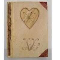 Handmade Bamboo Paper Heart Photo Album (Indonesia)