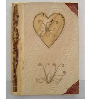 Handmade Bamboo Paper Heart Photo Album (Indonesia)