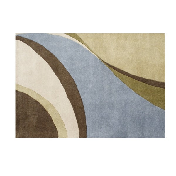 Alliyah Handmade Multi Color New Zealand Blend Wool Rug (8' x 10') - 8' x 10'