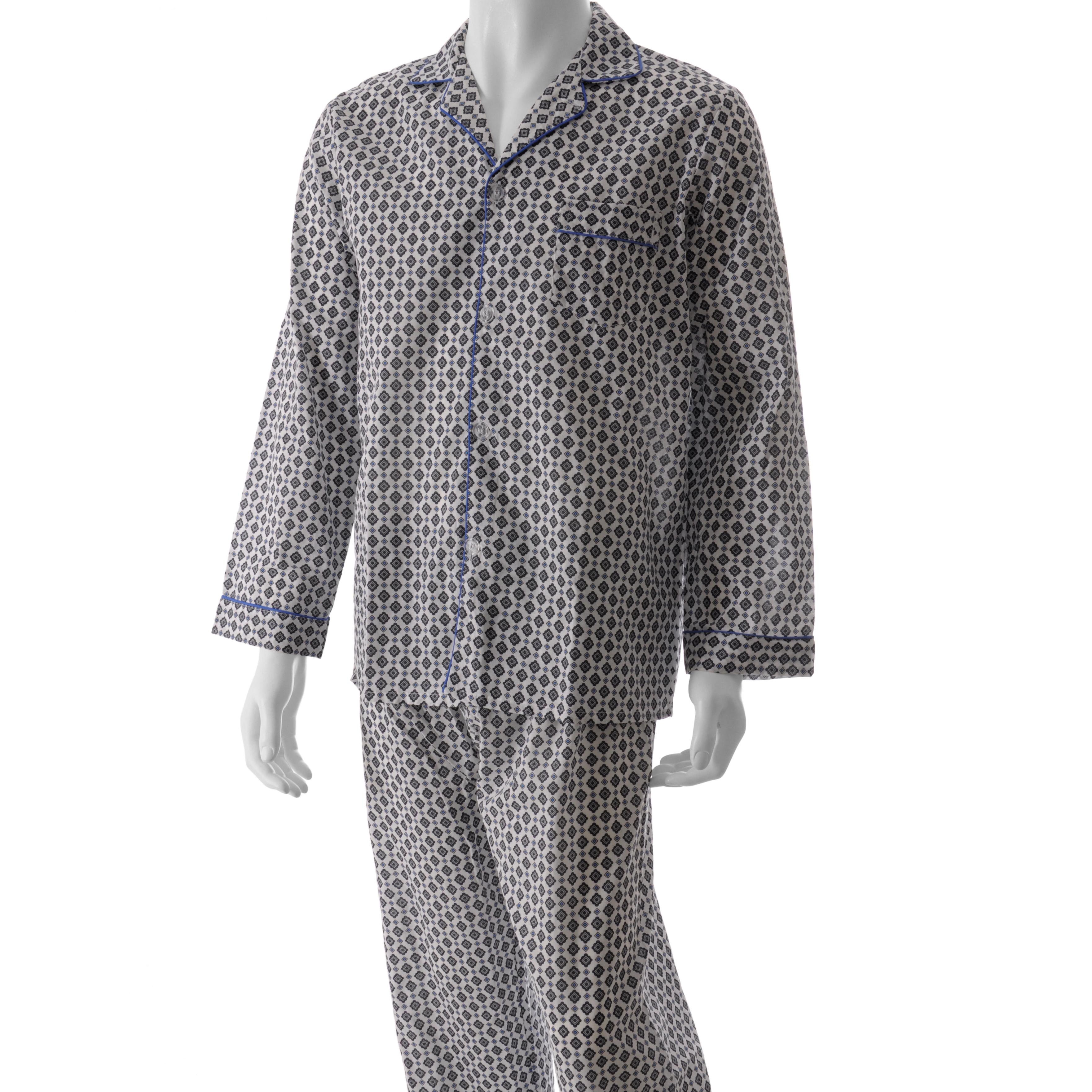 5010787e2706f Shop Ten West by Daxx Men's Blue/ White Pajama Set - Free Shipping On Orders  Over $45 - Overstock - 4825610