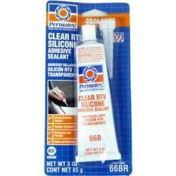 Permatex 80050 3-oz Clear Silicone Adhesive Sealant