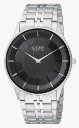 Citizen Men's Eco-drive 'Stiletto' Stainless Steel Watch - Thumbnail 2