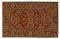 Nourison Hand-tufted Caspian Rust Wool Rug (3'6 x 5'6) - Thumbnail 2