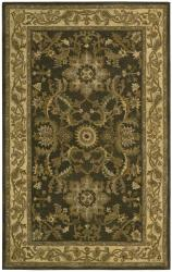 Nourison Hand-tufted Caspian Green Wool Rug (3'6 x 5'6) - Thumbnail 1