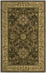 Nourison Hand-tufted Caspian Green Wool Rug (3'6 x 5'6) - Thumbnail 2