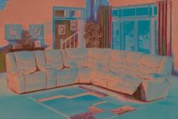 Pulsar Microfiber Sectional Sofa/ Recliner