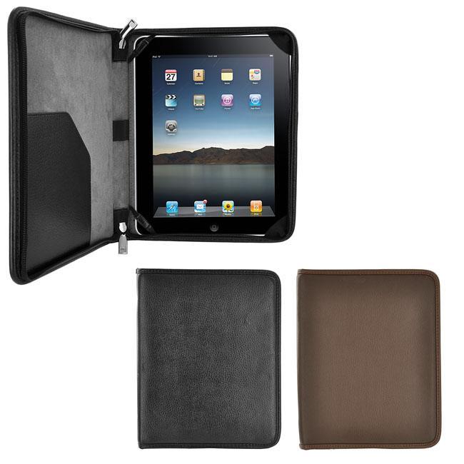 Apple iPad Leatherette Zipper Portfolio Case