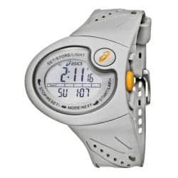 cansada panorama biología  Asics Men's 'Active Running' Grey Rubber Strap Digital Watch - Overstock -  4831949