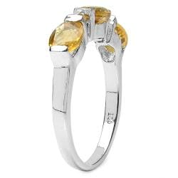 Thumbnail 2, Malaika Sterling Silver Oval and Round Citrine Ring. Changes active main hero.