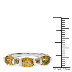 Thumbnail 3, Malaika Sterling Silver Oval and Round Citrine Ring. Changes active main hero.