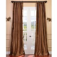 Exclusive Fabrics Signature Mocha Textured Silk Curtain Panel