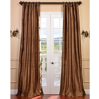 Exclusive Fabrics Signature Mocha Textured Silk Curtain Panel