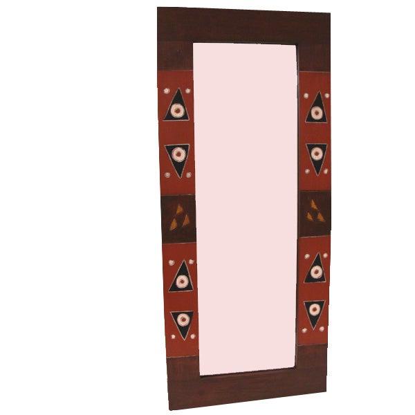 Handmade Adinkra Full-length Mirror (Ghana)