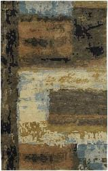 Artist's Loom Hand-tufted Contemporary Geometric Wool Rug (9'x13') - Thumbnail 2