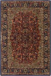 Artist's Loom Hand-tufted Traditional Oriental Wool Rug (7'9 Round) - Thumbnail 2