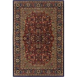 Artist's Loom Hand-tufted Traditional Oriental Wool Rug (7'9 Round) - Thumbnail 0