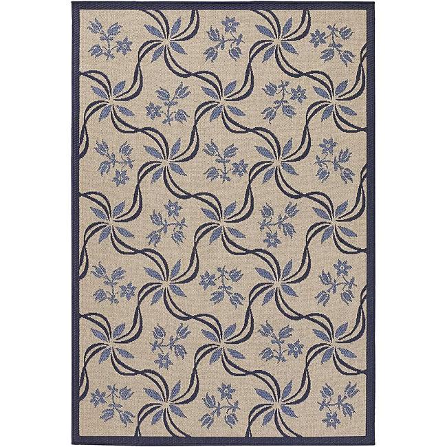 Artist's Loom Indoor/Outdoor Transitional Floral Rug (3'9 x 5'9)