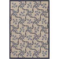 Artist's Loom Indoor/Outdoor Transitional Floral Rug (3'9 x 5'9)