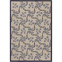 Artist's Loom Indoor/Outdoor Transitional Floral Rug (5'2 x 7'5)