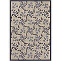 Artist's Loom Indoor/Outdoor Transitional Floral Rug (5'2 x 7'5)