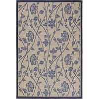 "Artist's Loom Indoor/Outdoor Transitional Floral Rug (5'2 x 7'9) - 5'2"" x 7'9"""