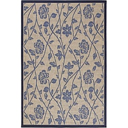 Artist's Loom Indoor/Outdoor Transitional Floral Rug - 7'9 x 11' - Thumbnail 0