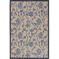 Artist's Loom Indoor/Outdoor Transitional Floral Rug - 7'9 x 11'