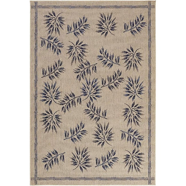 "Artist's Loom Indoor/Outdoor Transitional Floral Rug - 5'2"" x 7'9"""