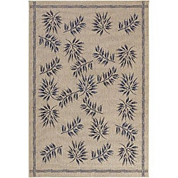 "Artist's Loom Indoor/Outdoor Transitional Floral Rug - 5'2"" x 7'9"" - Thumbnail 0"
