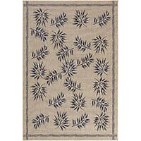 Artist's Loom Indoor/Outdoor Transitional Floral Rug - 7'9 x 11'