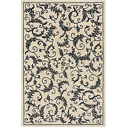 "Artist's Loom Hand-tufted Transitional Floral Wool Rug - 5' x 7'6"" - Thumbnail 0"
