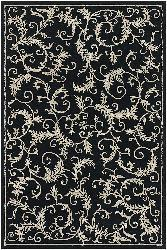 Artist's Loom Hand-tufted Transitional Floral Wool Rug (7'9x10'6) - Thumbnail 2