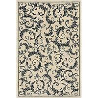 Artist's Loom Hand-tufted Transitional Floral Wool Rug (7'9x10'6) - 7'9 x 10'6