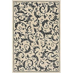 Artist's Loom Hand-tufted Transitional Floral Wool Rug (2'6x7'6)