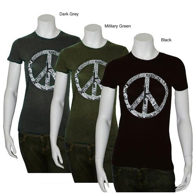 Los Angeles Pop Art Women's Peace, Love and Music T-shirt