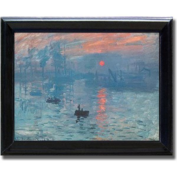 Monet Impression Sunrise Framed Canvas Art On Sale Overstock 4300807