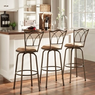 Avalon Double Cross Swivel High Back Counter Barstool (Set of 3) by iNSPIRE Q Classic